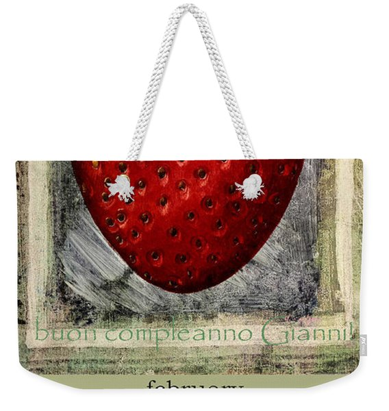 happy birthday Gianni Weekender Tote Bag