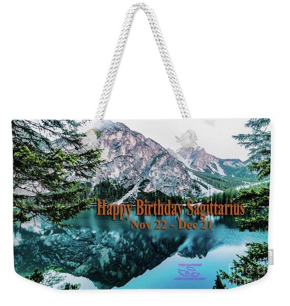 Happy Birthday Sagittarius Weekender Tote Bag