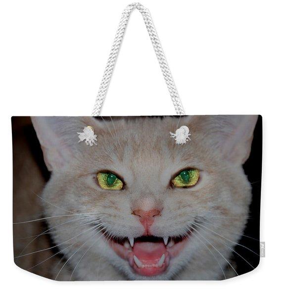 Happy For Spring Cat Weekender Tote Bag
