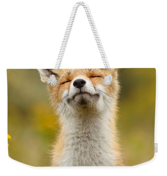 Happy Fox Weekender Tote Bag