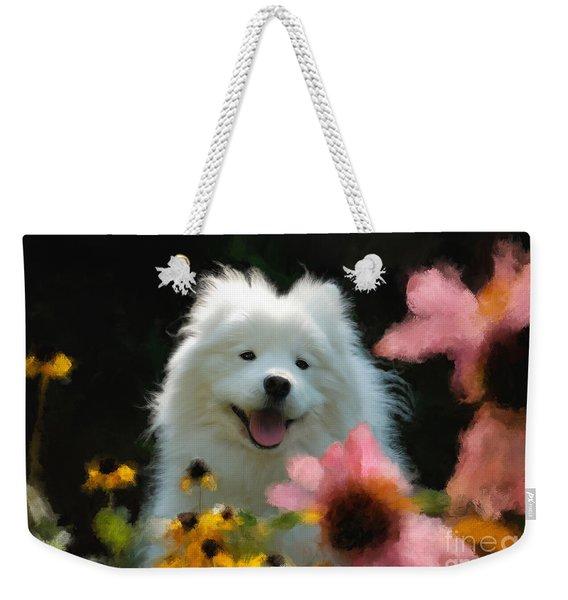Happy Gal In The Garden Weekender Tote Bag