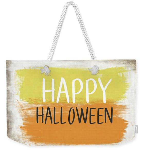 Happy Halloween Sign- Art By Linda Woods Weekender Tote Bag