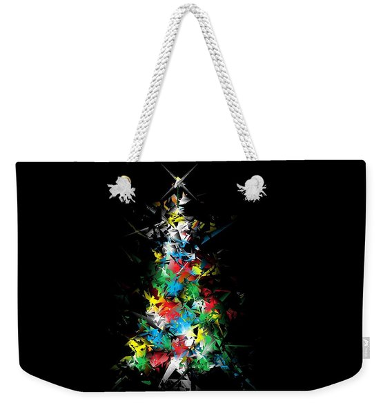 Happy Holidays - Abstract Tree - Horizontal Weekender Tote Bag