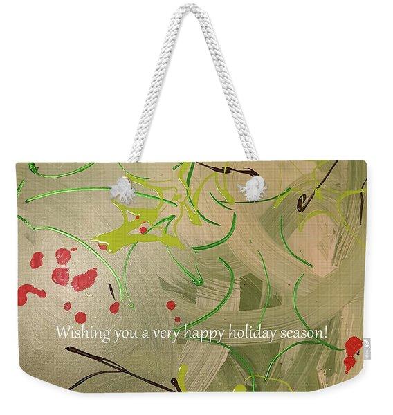 Happy Holidays Card Weekender Tote Bag