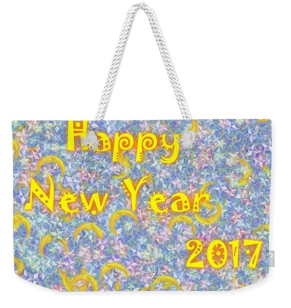 Happy New Year 2017 Weekender Tote Bag