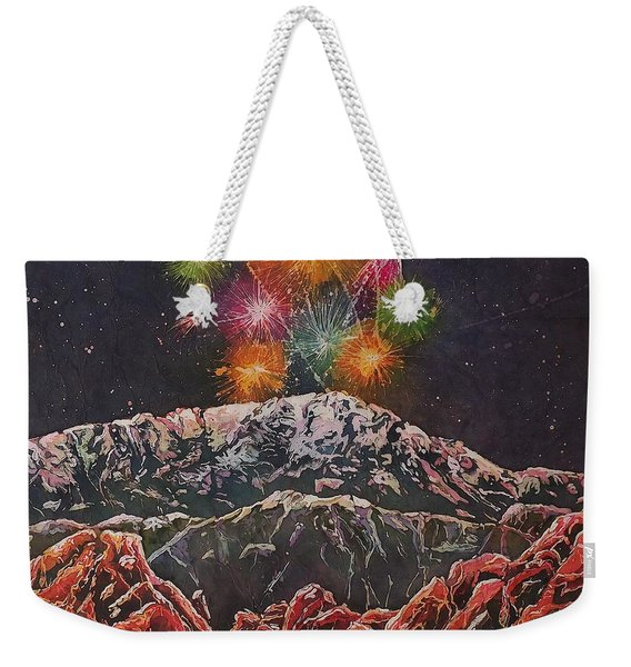 Happy New Year From America's Mountain Weekender Tote Bag