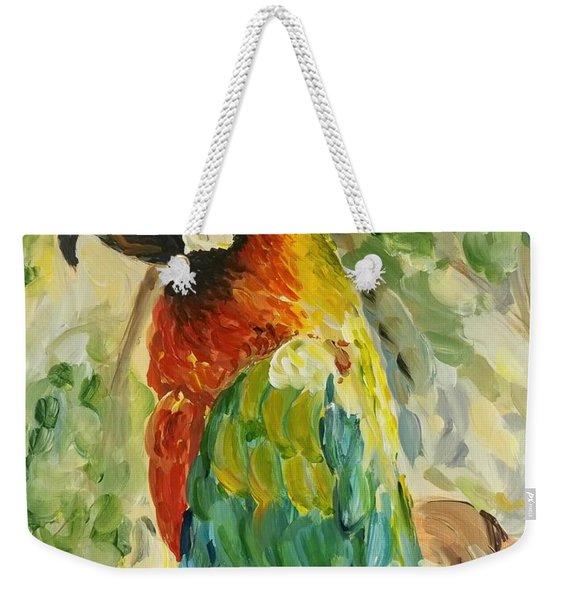 Happy Parrot Weekender Tote Bag