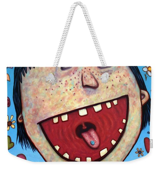 Happy Pill Weekender Tote Bag