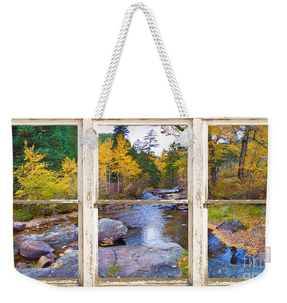 Happy Place Picture Window Frame Photo Fine Art Weekender Tote Bag