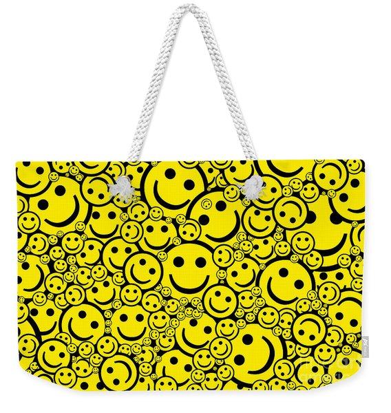 Happy Smiley Faces Weekender Tote Bag