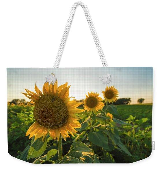 Happy Sunflower Weekender Tote Bag