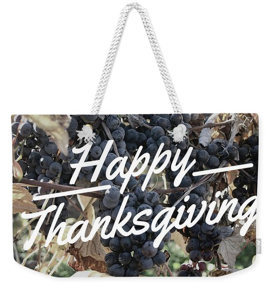 Happy Thanksgiving Weekender Tote Bag