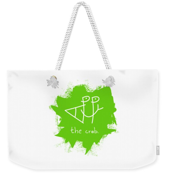 Happy The Crab - Green Weekender Tote Bag