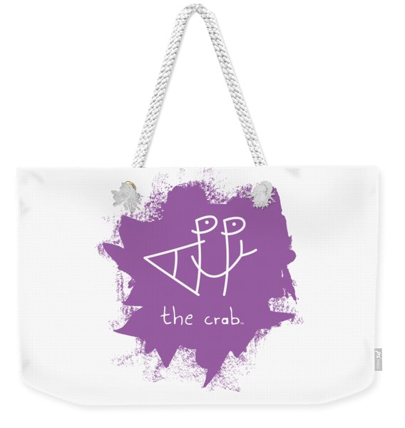 Happy The Crab - Purple Weekender Tote Bag