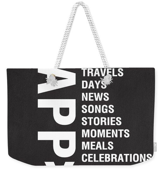 Happy Things Weekender Tote Bag