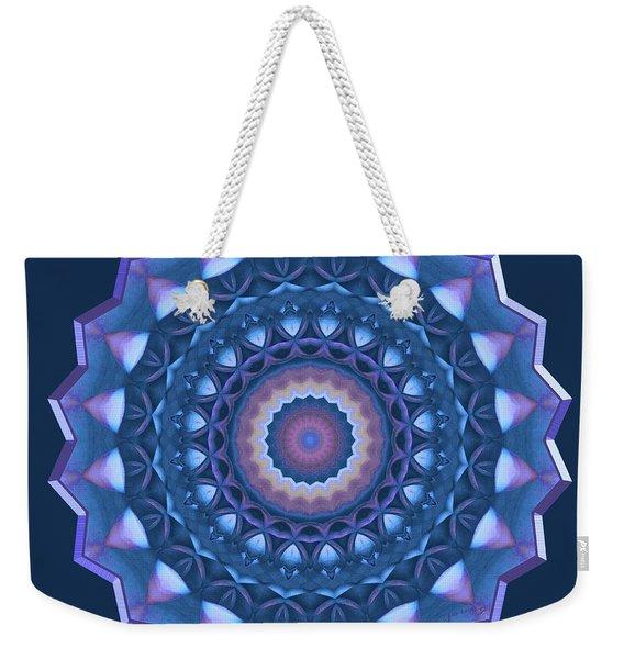 Happy To Be Blue Weekender Tote Bag