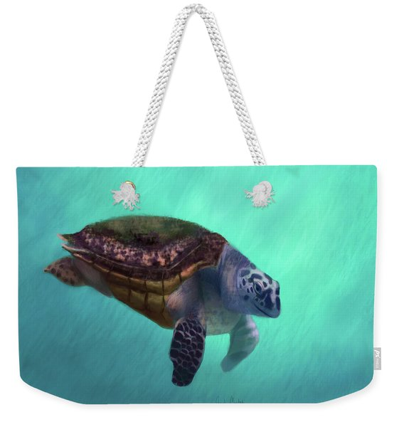 Happy Turtle Weekender Tote Bag