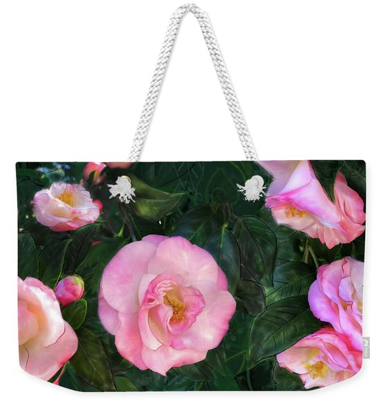 Weekender Tote Bag featuring the digital art Harbingers Of Spring by Gina Harrison