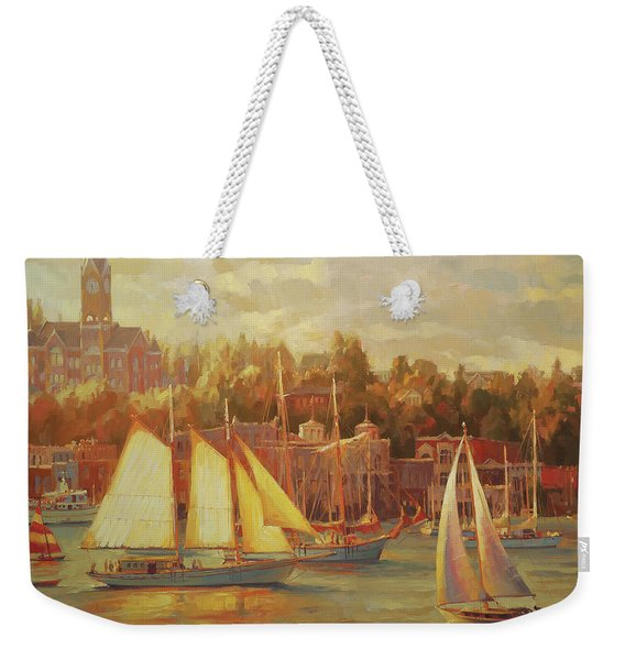 Harbor Faire Weekender Tote Bag
