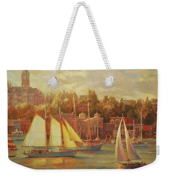Harbor Faire Weekender Tote Bag