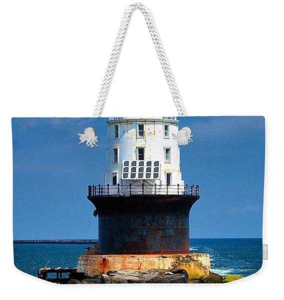 Harbor Of Refuge Lighthouse Weekender Tote Bag