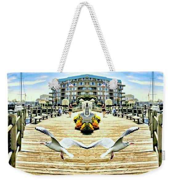 Stamford Landing Marina Weekender Tote Bag