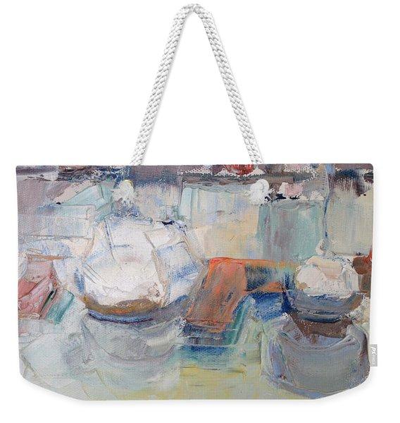 Harbor Sailboats Weekender Tote Bag