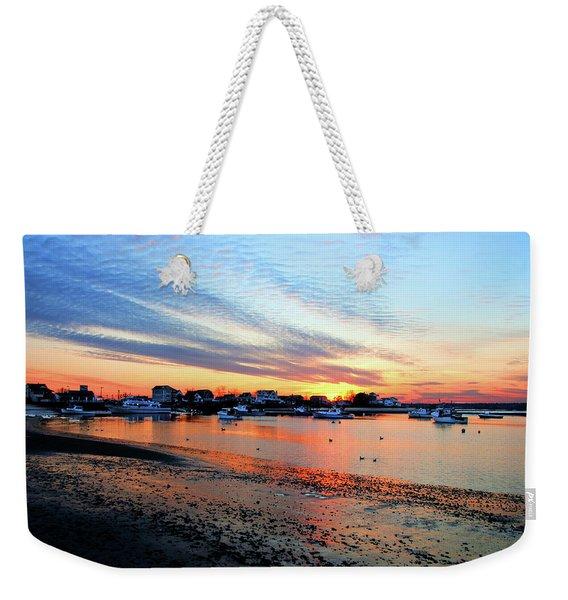 Harbor Sunset At Low Tide Weekender Tote Bag
