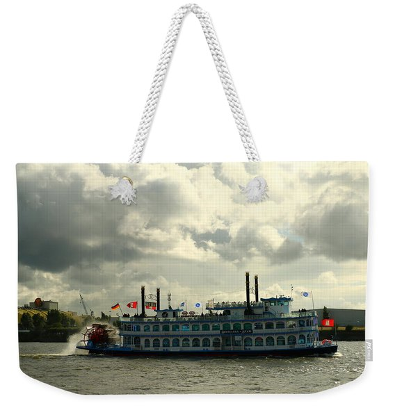 Harbor Tour With Paddle Wheeler Lousiana Star Weekender Tote Bag