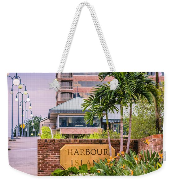 Weekender Tote Bag featuring the photograph Harbour Island Retreat by Carolyn Marshall