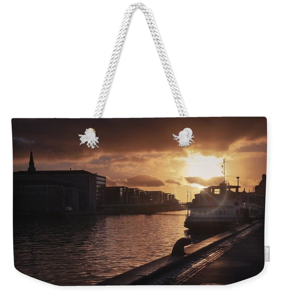 Harbour Sunset Copenhagen Weekender Tote Bag