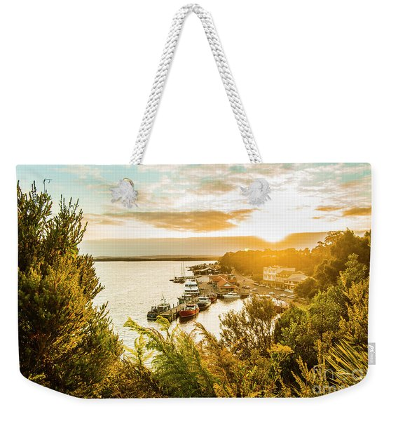 Harbouring A Colourful Vista Weekender Tote Bag
