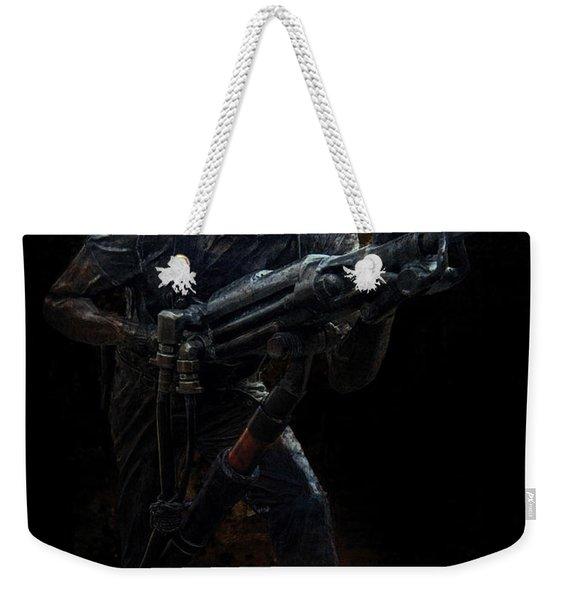 Hard Rock Mining Man Weekender Tote Bag