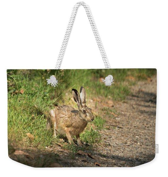 Hare In The Woods Weekender Tote Bag