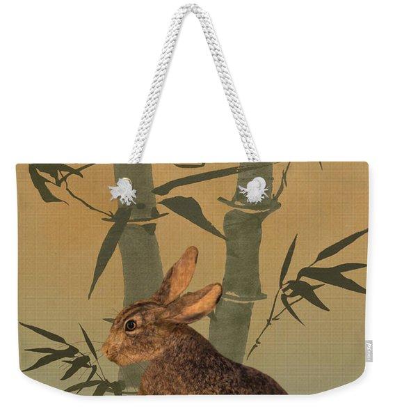 Hare Under Bamboo Tree Weekender Tote Bag