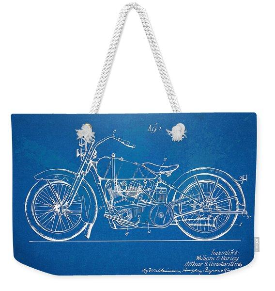 Harley-davidson Motorcycle 1928 Patent Artwork Weekender Tote Bag