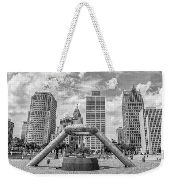 Hart Plaza In Detroit  Weekender Tote Bag
