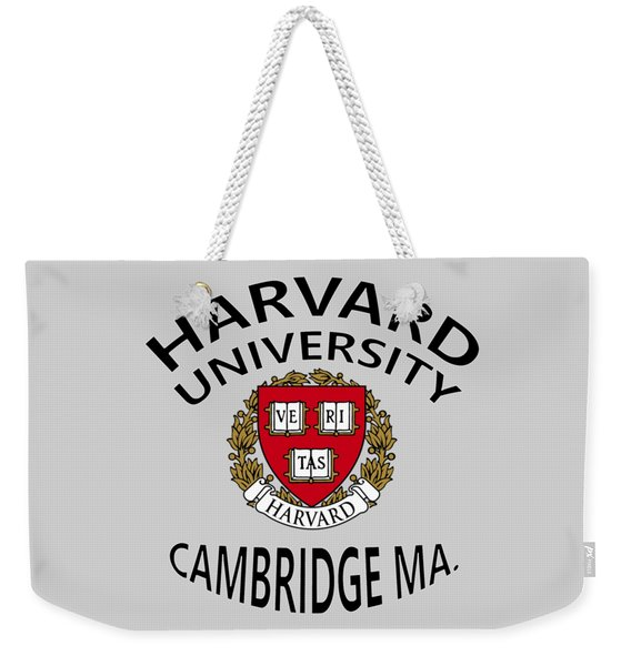 Harvard University Cambridge M A  Weekender Tote Bag