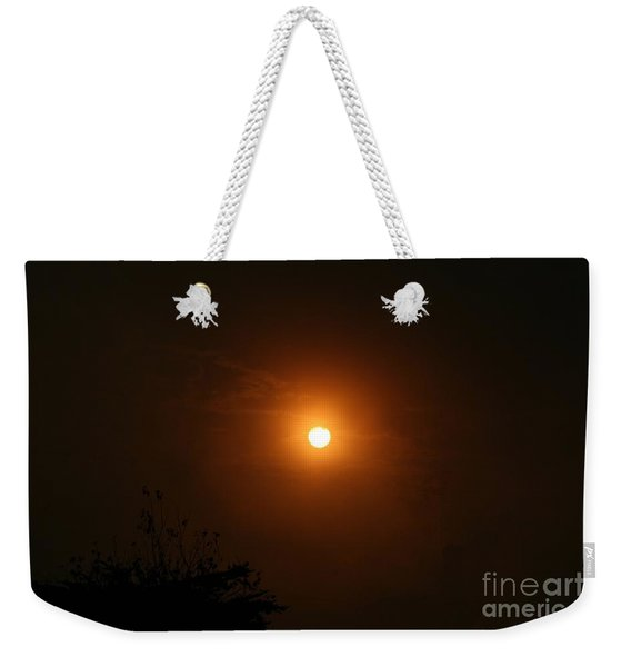 Weekender Tote Bag featuring the photograph Harvest Moon by Cynthia Marcopulos