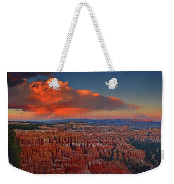 Harvest Moon Over Bryce National Park Weekender Tote Bag