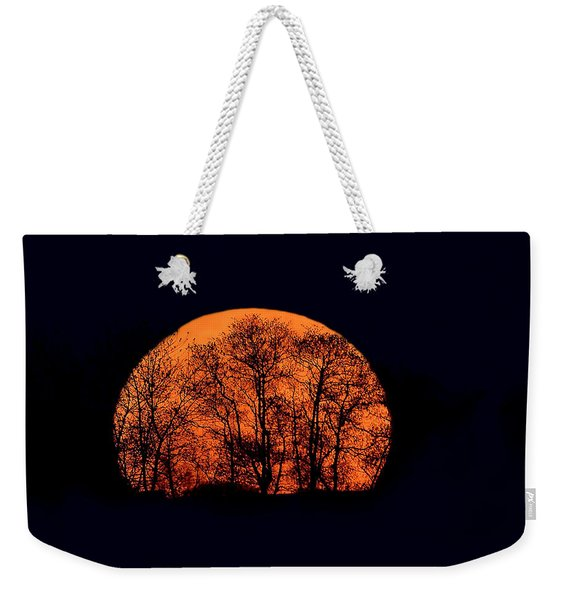 Harvest  Moon Rising Weekender Tote Bag
