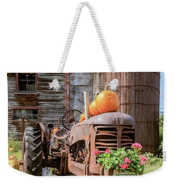 Harvest Time Vintage Farm With Pumpkins Weekender Tote Bag