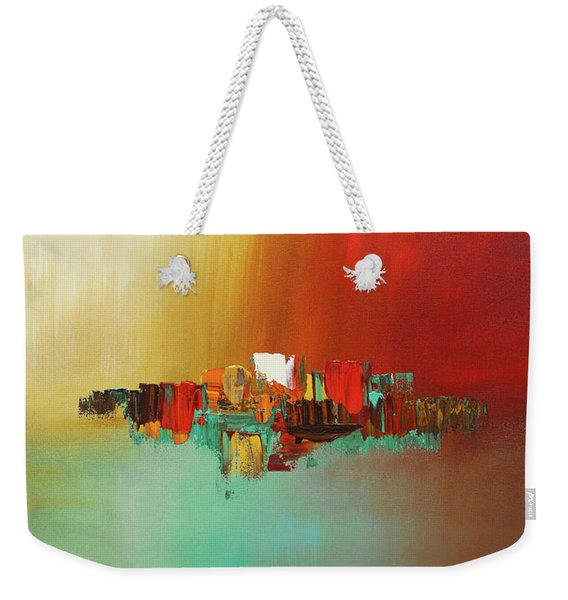 Hashtag Happy - Abstract Art Weekender Tote Bag