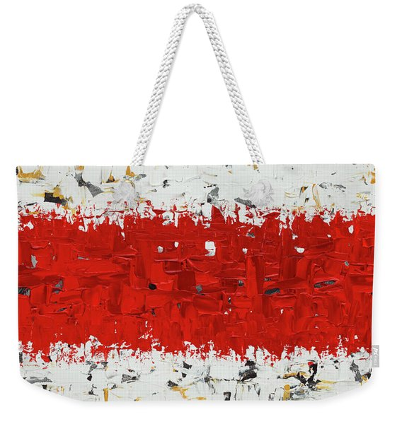Hashtag Red - Abstract Art Weekender Tote Bag