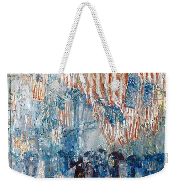 Hassam Avenue In The Rain Weekender Tote Bag