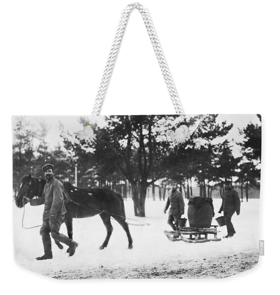 Hauling Water For Trenches Weekender Tote Bag
