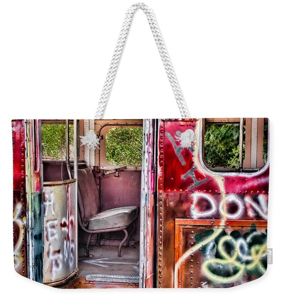 Haunted Graffiti Art Bus Weekender Tote Bag