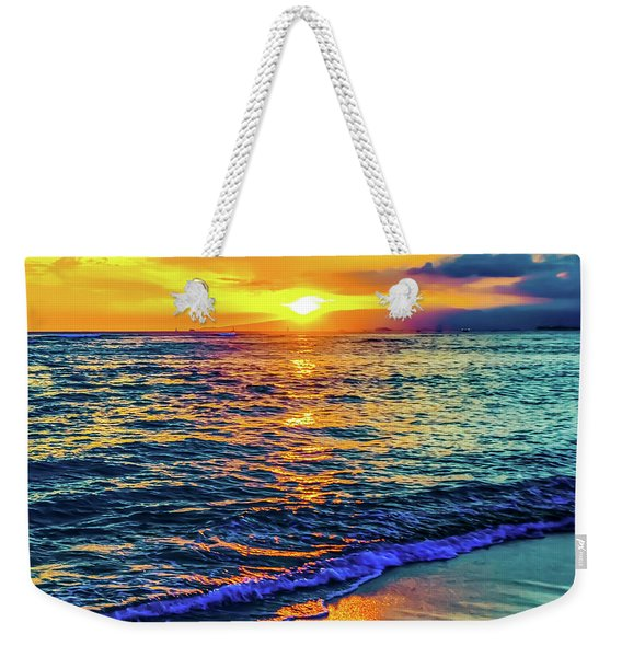 Hawaii Beach Sunset 149 Weekender Tote Bag
