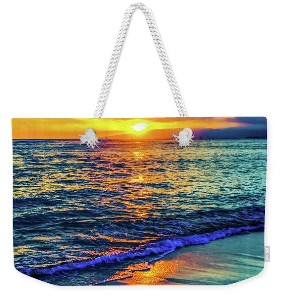 Hawaii Beach Sunset 149 Weekender Tote Bag