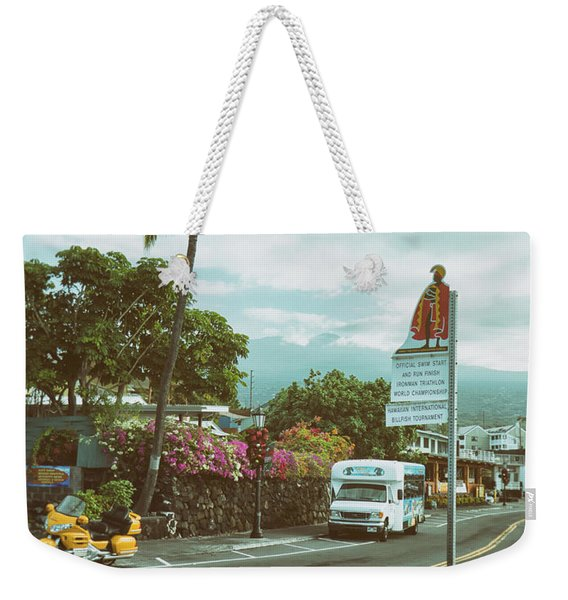 Weekender Tote Bag featuring the photograph Hawaii Ironman Start Point  by Mary Lee Dereske